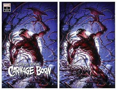 Web Of Venom Carnage Born #1 Clayton Crain Trade/Virgin Variant Set Ltd 1000 Set