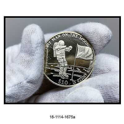 2000 Liberia First Man on The Moon $10 Coin