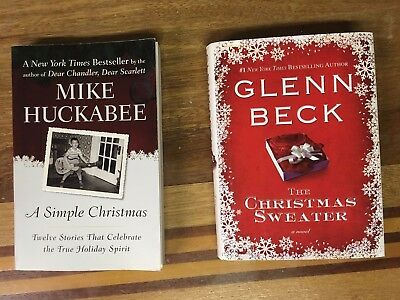 The Christmas Sweater Glen Beck Hardcover & Mike Huckabee Simple Book Lot of 2