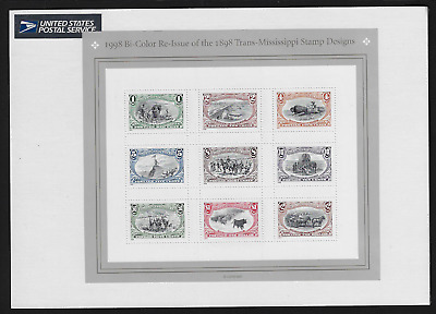 USA Stamps — Full Pane of 9 — 1998, Trans-Mississippi Stamps #3209 — MNH