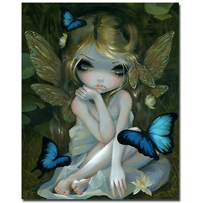 "Jasmine Becket-Griffith Art Print SIGNED Lily Fairy Butterfly Lotus Flow 8""x10"""