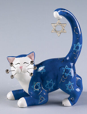 """8"""" Judaica Cat """"Star""""...Just in time for Hanukkah!  Special discounted price"""