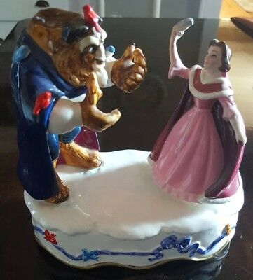 """RARE Disney Beauty and the Beast Schmid Musical """"Something There"""" Figurine"""