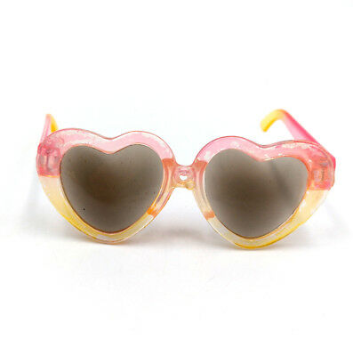 Fit For 18'' American Girl Pink & Yellow Heart Glasses Fashion Doll Accessories