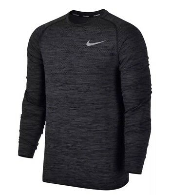 d764484f7 Nike DRI-FIT Knit Long Sleeve Running Shirt Dark Grey Rflct SZ XL ( 833565