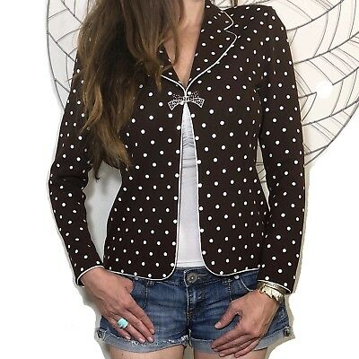 St. John Couture Marie Gray Embellished Santana Knit Blazer Jacket Neutral Bow