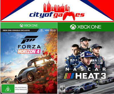 Forza Horizon 4 & NASCAR Heat 3 Xbox One XB1 Bundle Game Brand New & Sealed