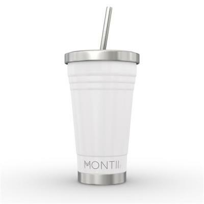 NEW MontiiCo Insulated Smoothie Cup 450ml - White