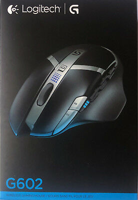 New Logitech G602 Wireless Programmable Gaming Mouse 910-003820 2500 DPI 5P