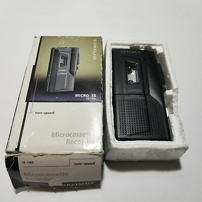 Optimus Micro-38 Two Speed Microcassette Recorder 14-1166 Working