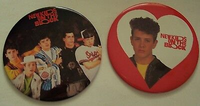 "Lot Of 2 - 1989 New Kids On The Block 6"" Pins/buttons - Group Shot & Joe"