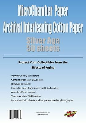 """MicroChamber Paper Silver Size 50 Sheets 6-3/4"""" x 10-3/16"""""""