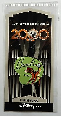 Disney Store  Pin DS Bambi Countdown to Millennium Series #96 on Card PP 402