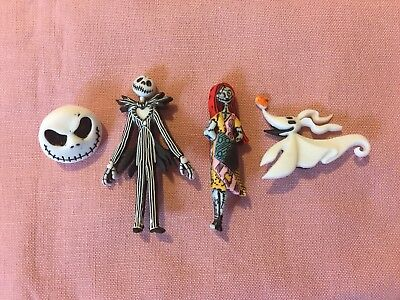 Disney Jack Skellington, Sally, Zero And Jack's Face Set Of 4 Pins