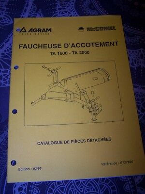 6D Catalogue pieces de rechange AGRAM Faucheuse d'accotement TA 1600 2000
