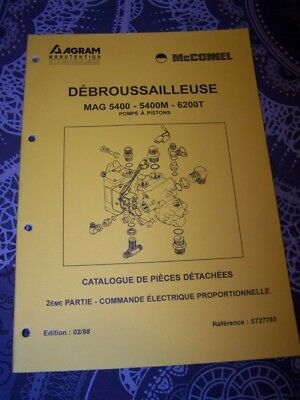 6I Catalogue pieces de rechange AGRAM Debrousailleuse MAG 5400 5400M 6200T