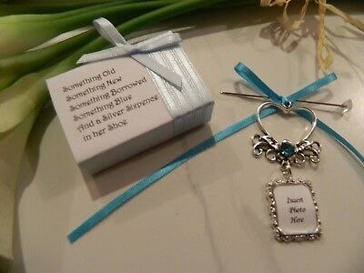 Wedding Bouquet  Memory Photo  Frame- Charm - Gift Boxed-Diy Photo