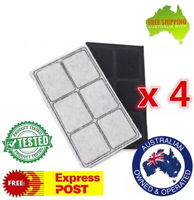 4x Replacement Carbon Filters for Petsafe Drinkwell Original/Platinum Fountain