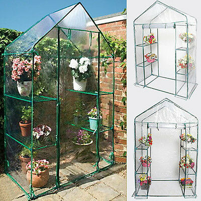 Walk In Greenhouse 6 Shelvex Frame Reinforced Outdoor Garden Compact Green House