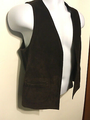 Vintage Leather Vest BOHO Hippie Western Suede Motorcycle Western Homemade Ranch