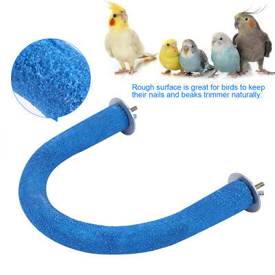 Pet Bird Parrot Claw Grinding Stick Flat Stand Platform Perch Cage Decor Toy