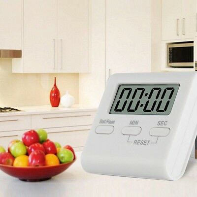 Kitchen Digital Timer Large LCD Magnetic Cooking Clock Loud Alarm Count Up/Down