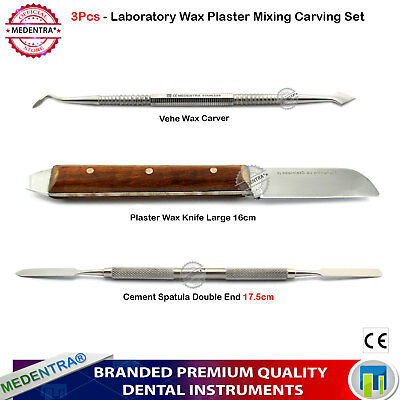 3Pcs Basic Dental Laboratory Tools Wax Mixing Spatula Knife Carving Carver Vehe