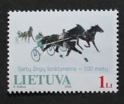 Centenary of horse races stamp, 2005, Lithuania, SG ref: 854, MNH