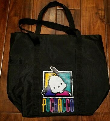 1994 SANRIO POCHACCO ZIPPERED TOTE BAG Sack Purse VINTAGE Retro