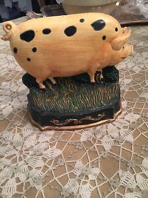 Super Cute Cast Iron Pig Door Stop