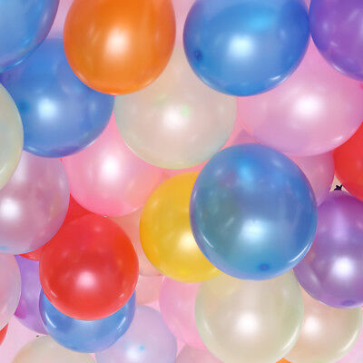 100 LARGE PLAIN BALONS BALLONS helium BALLOONS Quality Birthday Wedding BALLOON