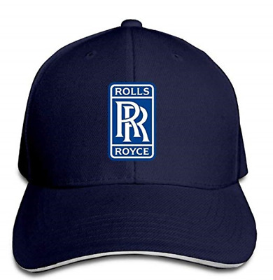 Unisex Rolls Royce Logo Adjustable Snapback Peaked Cap Baseball Hats Blue