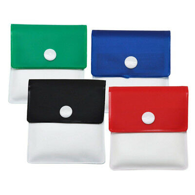Outdoor Pocket Ashtray For Cigarettes Portable Button Closure Butt Pouch Bag 4PC