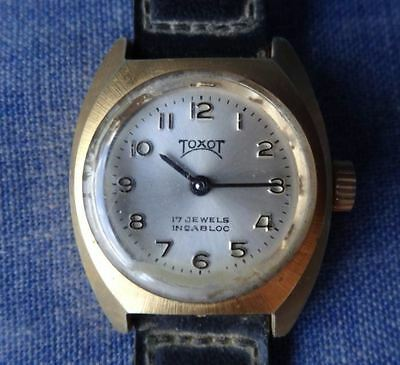Rare Toxot (Anglo Watch Co) Australian Swiss Made Ladies Watch 17 Jewels Wind up
