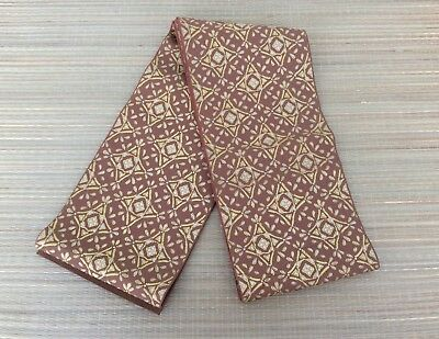 Japanese hanhaba obi for women, brown, used, for kimono, good cond.(AM2264)