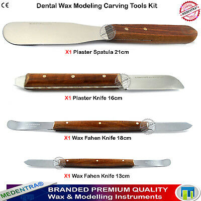 Set of 4 Dental WAX CARVING KNIFE Dental-Plaster Alginate Mixing Knives Spatulas