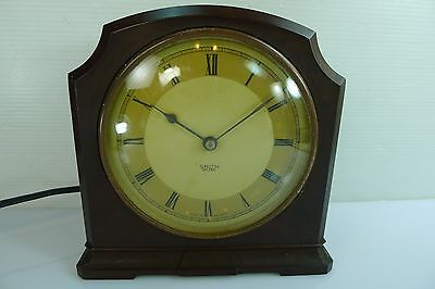 ART DECO VINTAGE LATE 1930s BAKELITE SMITH SECTRIC ELECTRIC MANTEL TIME PIECE