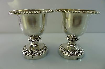 Pair Of Antique French Hallmarked Very High Quality Silver 950 Egg Holders