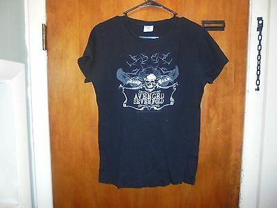 Avenged Sevenfold Womens Cut T Shirt   Black Extra Large Size ( XL ) Women's Top