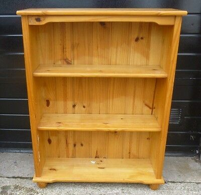 Large  Solid Pine Free Standing Open Bookshelves