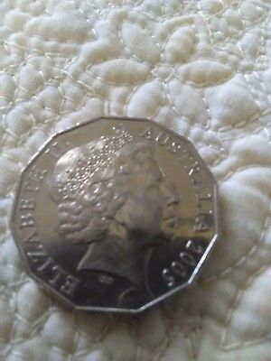 2005 commonwealth games 50 cents coin