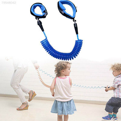 455E Children Safety Leash Anti Lost Wristbands Harness Strap Traction Rope Blue