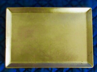Gold Leaf Gilded Lacquer  Decorative Tray NEW IN BOX 4