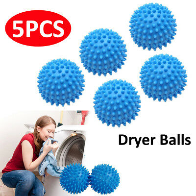 5X Washing Machine Tumble Dryer Clothes Laundry Softener Balls Eco Friendly Blue
