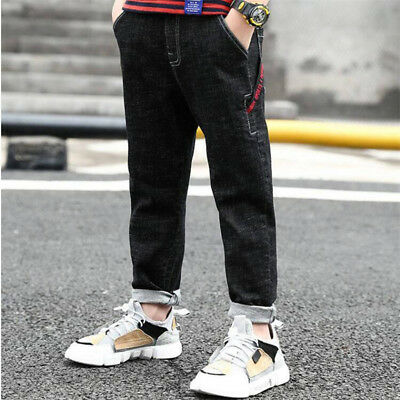 Young Child Boys Denim Trousers Casual Jean Pants Kids Boy Straight Jeans Autumn