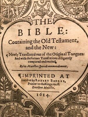 1613/1614 King James SHE Bible RARE UNKNOWN COPY Not found in Herbert Guide