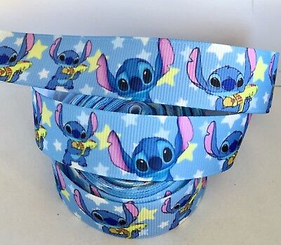 Yard Disney Lilo And Stitch Grosgrain Ribbon Childrens Character   #373