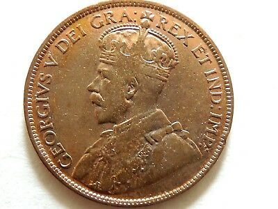 1915 Canadian One (1) Cent Coin