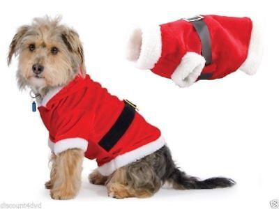 Christmas Pet Small puppy Dog Cat Santa Claus Costume Outfit Fancy Dress Gifts