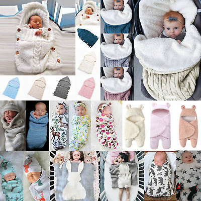 Newborn Infant Swaddle Blanket Soft Sleeping Bag Muslin Swaddling Wrap Bedding